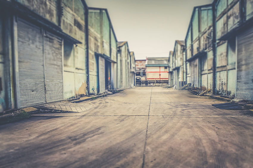 An Abandoned Warehouse. Abandoned Architecture Bangkok Broken Building Built Structure Conceptual Damaged Day Diminishing Perspective Empty Eye4photography  EyeEm Best Shots Forlorn Location Scouting No People Photography Shoot Streetphotography Thailand The Way Forward Vanishing Point Wall Warehouse The Graphic City