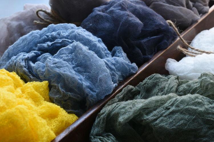 View of multi colored textile