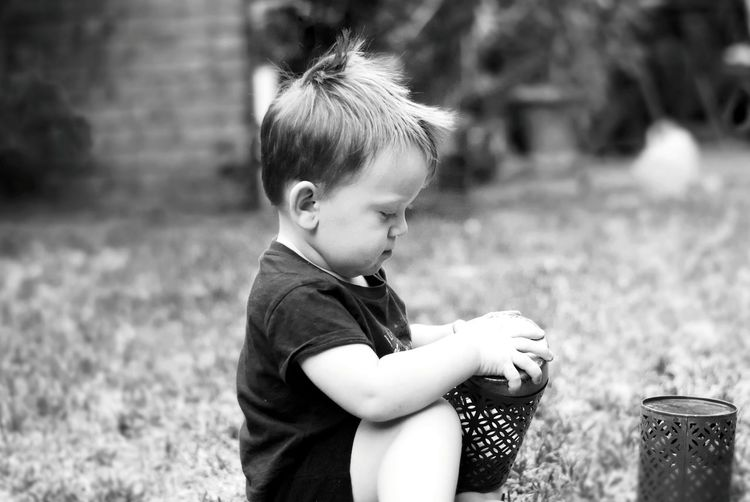 Vscocam VSCO Nikonphotography Nikon D5500 50mm Nikon Blackandwhite Black And White Black & White Blackandwhite Photography Toddler  Children Only Child Childhood One Person People Outdoors One Boy Only Sitting