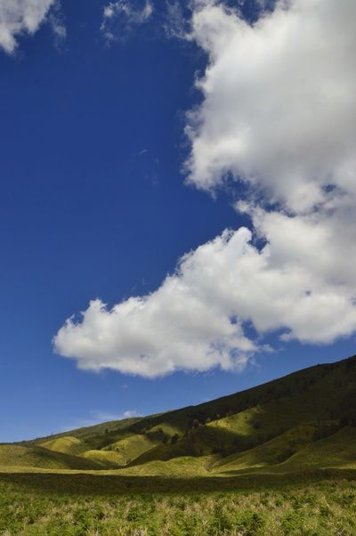 Mountain Landscape Sunny Sunny Day Bromo Green