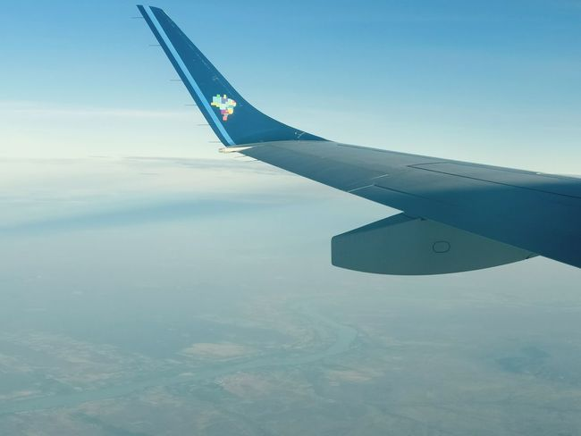 Airplane Airplane Wing Turbine Cloud Sky River River View Sunrise No People Day Shotononeplus3 Rio Sao Francisco Petrolina Brazil