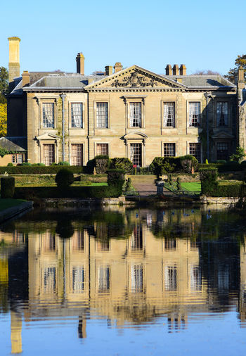 Coombe Abbey . UK Stone Material Elegant Historical Historical Building Grand Architecture_collection Reflection_collection Reflection Lake Reflections In The Water Abbey Coventry, England Coombe Abbey Mansion Outdoors Clear Sky History Day The Past Residential District Sky No People Lake Nature Building Waterfront Built Structure Water Architecture Reflection Building Exterior Torist Destination Tourist Attraction  Toursim My Best Photo