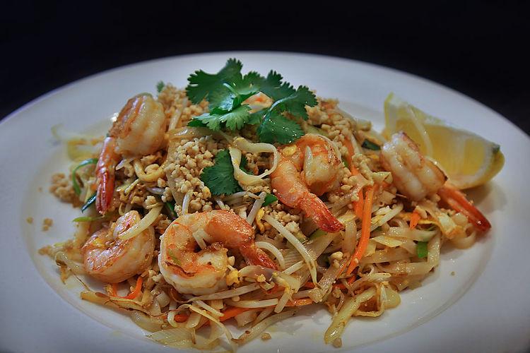 Asian Food Close-up Food Food And Drink Padthai Prawn Ready-to-eat Seafood Shrimp - Seafood Thai Food