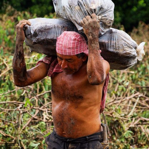 Adapted To The City Outdoors Nature One Man Only One Person Men Agriculture Only Men Adults Only Human Body Part Adult Working Occupation Day Freshness People Camouflage Clothing