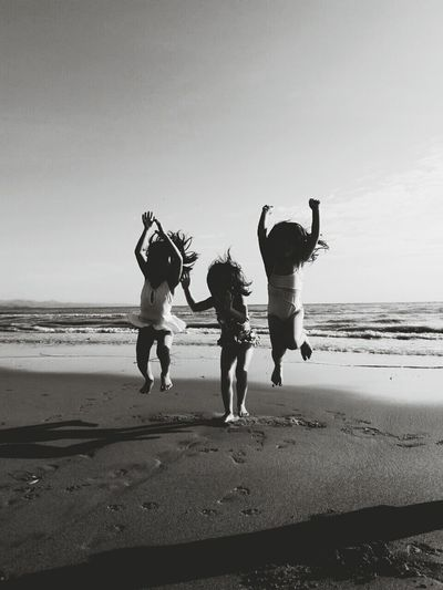 I know one thing that will never change like the feeling of Happiness when you're with your Bestfriends on Summerdays  how you work and how you Playand how you Awesomely treat each other the same. Bestfriends Kids Beauty In Nature Sun Wave Jumping Sunrise Freedom Happiness Blackandwhitephotography