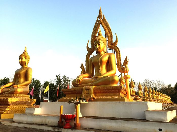 budda Religion Gold Colored Gold No People Outdoors Day Sky b Thailand