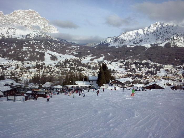 Cortina d'Ampezzo Snow Mountain Landscape Cold Winter Cold Temperature Resort Skier Ski Resort  Dolomites Cortina D'Ampezzo Cortinadampezzo