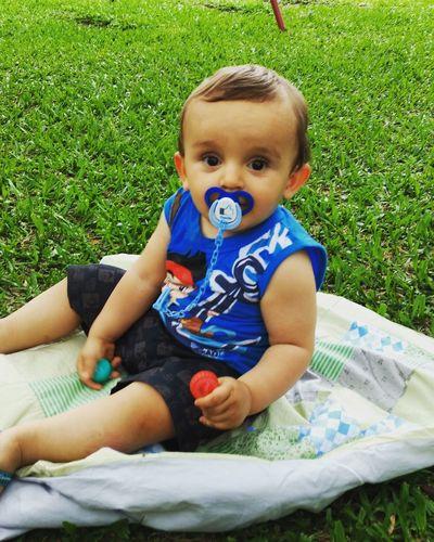 Gugu's playground. Baby Grass Outdoors Childhood