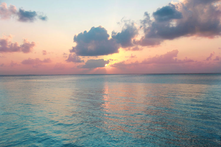 Outdoors No People Nature Tranquil Scene Scenics - Nature Sunset Cloud - Sky Horizon Tranquility Horizon Over Water Beauty In Nature Water Sea Sky Ocean