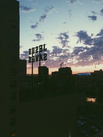 Jesus Saves. Amen Jesus Saves Los Ángeles City Sunset