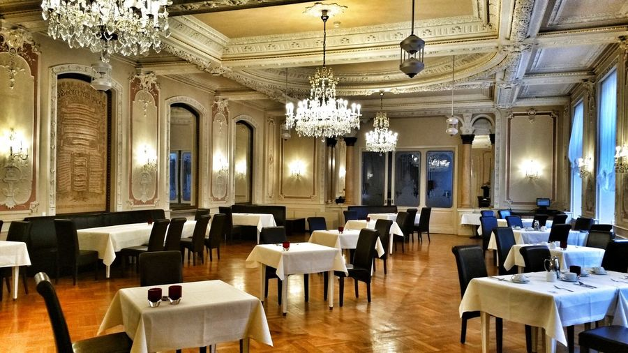 Taking Photos Baden Baden Germany Indoors City Hanging Hotel Hotel View Restaurant Decoration Old Buildings Large Group Of Objects Seat Luxury No People Architecture Day