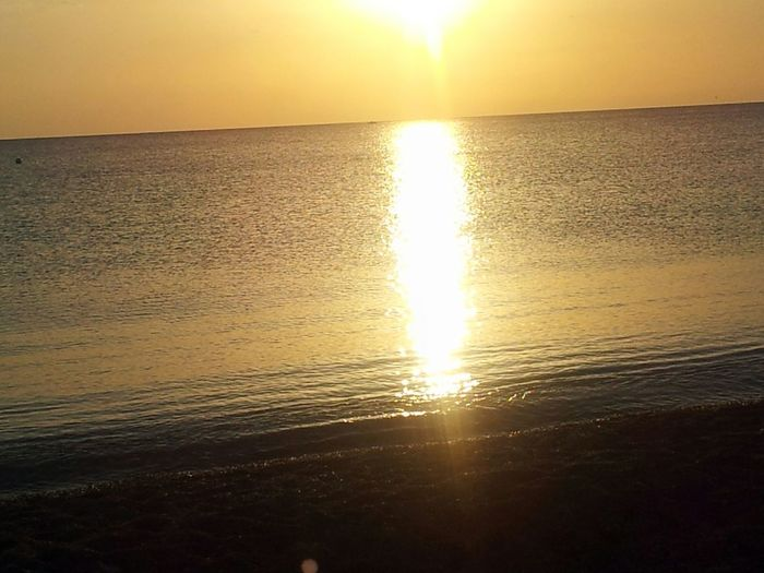 Calabria Italy Sunset Sun Sea Season Summer