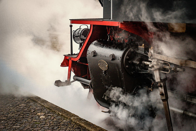 steam engine Day Land Vehicle Machinery Metal Mode Of Transport No People Old Outdoors Railroad Track Steam Engine Steam Train Transportation