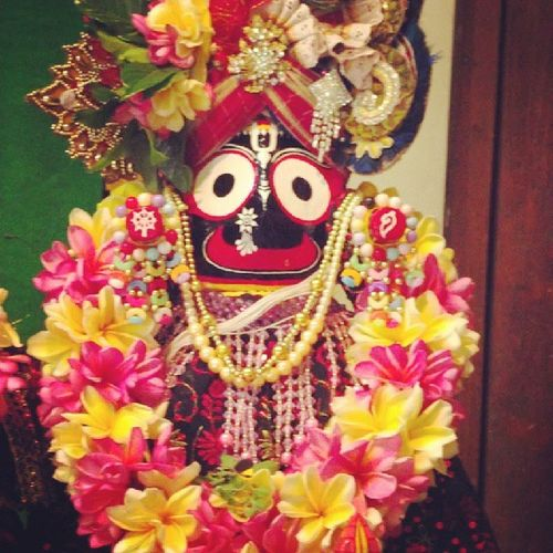 Lord Jagannath and his baller Balinese flower bling Teachmehowtojagy