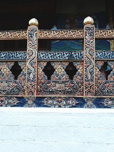 Wood Balcony Traditional Architecture Carving Artisan Work Motifs Pattern Close-up Architecture