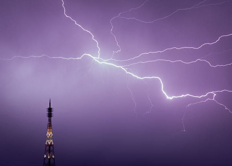 Lightning Storm Power In Nature Power Thunderstorm Cloud - Sky Communication Beauty In Nature Night Sky Warning Sign Electricity  Sign Nature Forked Lightning Illuminated Dramatic Sky Storm Cloud Purple No People Ominous Power Supply Rain Meteorology Bright