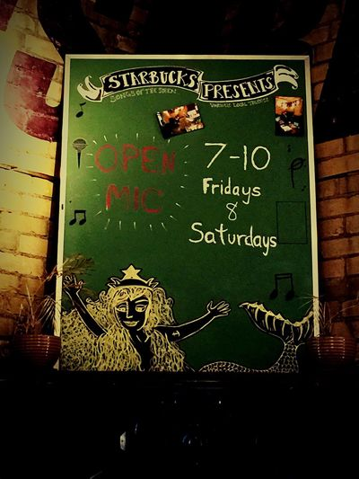 This Starbucks has Openmic on Fridays and Saturdays. Queen & Gerrard Toronto IPhoneography
