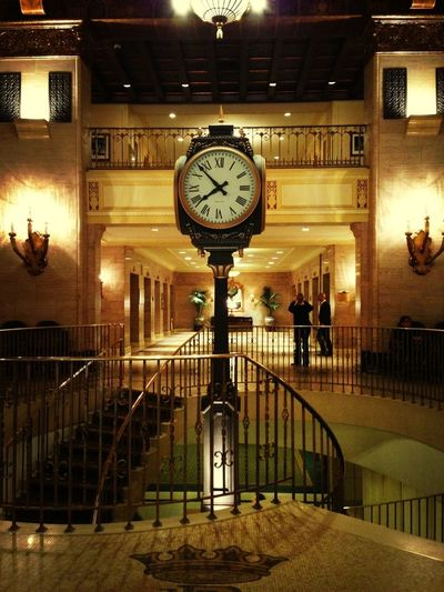 Architecture Clock Booking A Room