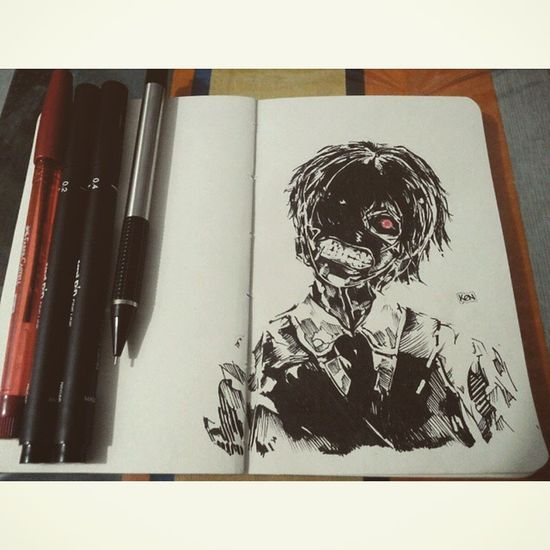 Kaneki-ken Friend requested :) Instadraw Instaart Draw Drawing Anime Manga Kaneki Kanekiken Tokyoghoul Pen Pencil Sketchpad Sketch Artoftheday Art Otaku Exploreartist Animeart