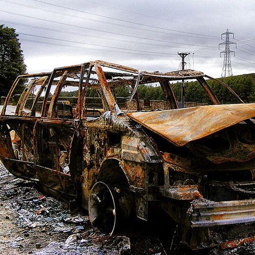 Fire Car Burntout Outandabout Walkabout
