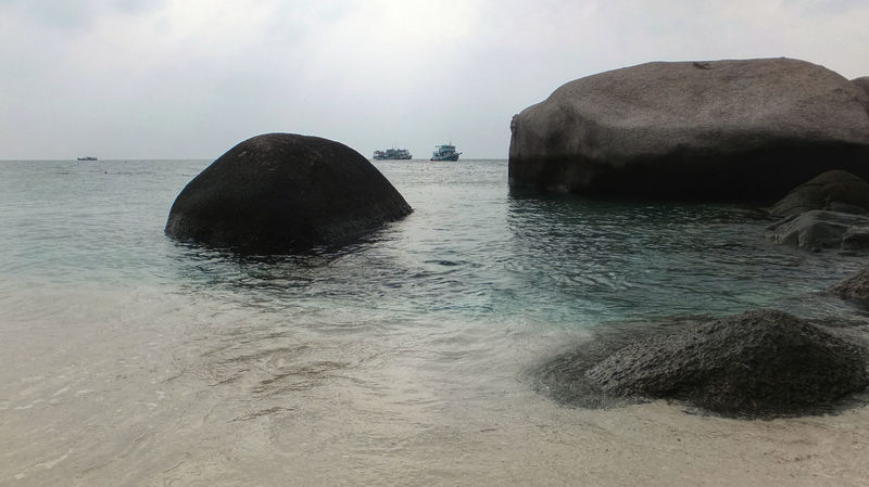 Beach Beauty In Nature Cliff Cloud Cloud - Sky Coastline Horizon Over Water Idyllic Incidental People Nature Rock - Object Rock Formation Sand Scenics Sea Shore Sky Tranquil Scene Tranquility Water Kohnangyuan Spotted In Thailand
