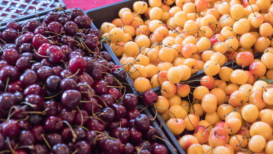 cherries in the market Food Food And Drink Healthy Eating Fruit Wellbeing Choice Large Group Of Objects Variation Freshness Abundance Retail  Market No People Grape Business Red Close-up Vegetable Berry Fruit Still Life Ripe