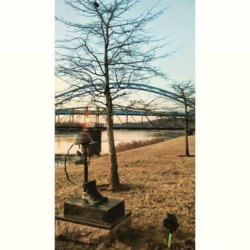 Along the Missouri river in Atchison Kansas..... Ks_pride Atchison Respect Bridge Wow_america_landscape World_shotz Military Memorials Local Kansasphotographer Kansasnature Missouririver