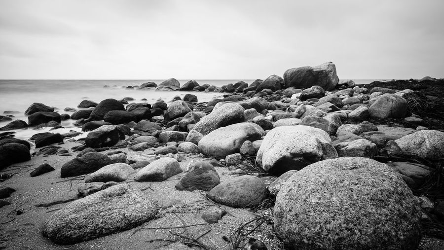 Rocky Horror Picture Felsen Baltic Sea Landscape Seascape EyeEm Selects EyeEm Best Shots First Eyeem Photo Hello World Monochrome Fine Art Photography Sky Sea Beach Land Beauty In Nature Tranquility Water Horizon Over Water Scenics - Nature Nature Horizon Rock Tranquil Scene Day No People Solid Cloud - Sky Stone Rock - Object Outdoors The Great Outdoors - 2018 EyeEm Awards