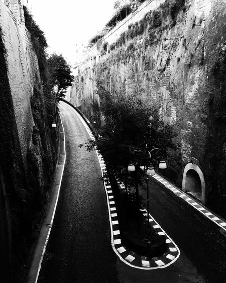 Road The Way Forward Curve Winding Road No People Sorrento Italy Blackandwhite B&w Street Photography Lost In The Landscape EyeEmNewHere