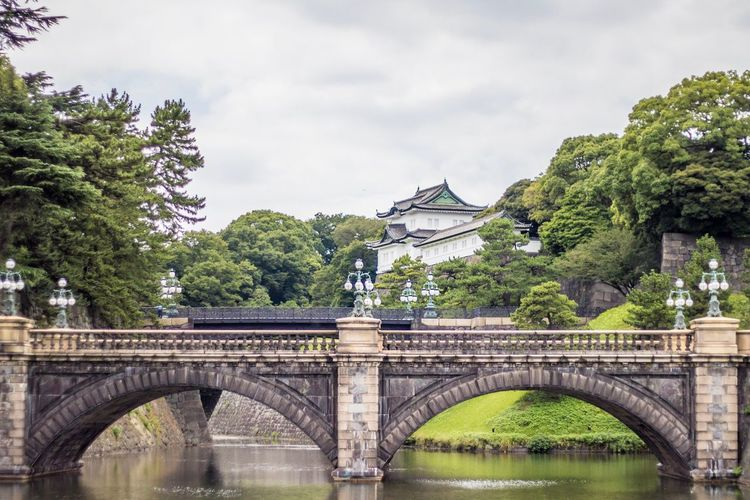 Architecture Bridge - Man Made Structure Built Structure Arch Bridge Arch Bridge Tree River Water Building Exterior Sky Arched Day Cloud - Sky Outdoors Bridges Japan Tokyo Tokyo Street Photography Tokyo,Japan Travel Connection