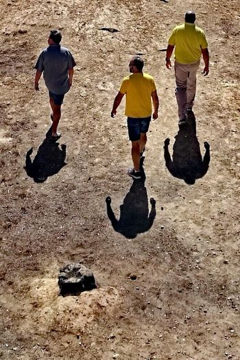 Full Length Shadow Day Sunlight Adult People Two People Real People Only Men Adults Only Togetherness Outdoors Sand Friendship Young Adult Men