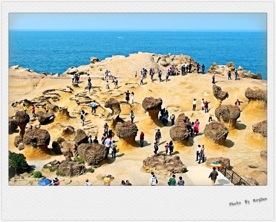 Taiwan Taiwanese Yeliugeopark China Rock People Springfestival Ocean Sky