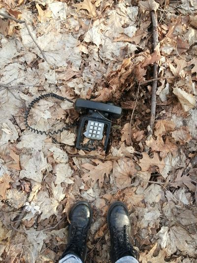 Found this old phone on a walk in the woods with my daughter. Cool Finds Old Phone Walking In The Woods Flashback Memories