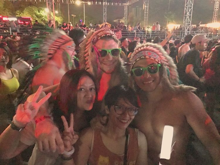 Friends from Singapore.. DanceMusicFestival By ITag Djakarta Warehouse Project By ITag Djakarta Warehouse Project 2016 By ITag Mobile Upload-Me & Friends