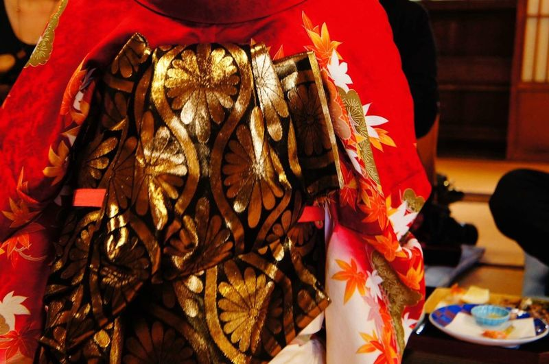 Red Celebration Traditional Clothing Real People Indoors  Day Close-up One Person Kimono Maikosan EyeEmNewHere