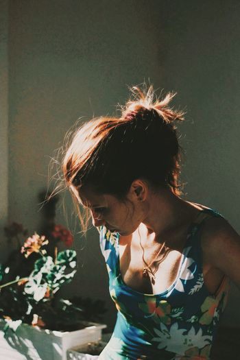 Last days of summer Lifestyles One Person Real People Leisure Activity Women Young Adult Portrait Hairstyle Headshot Waist Up Casual Clothing The Week On EyeEm Editor's Picks