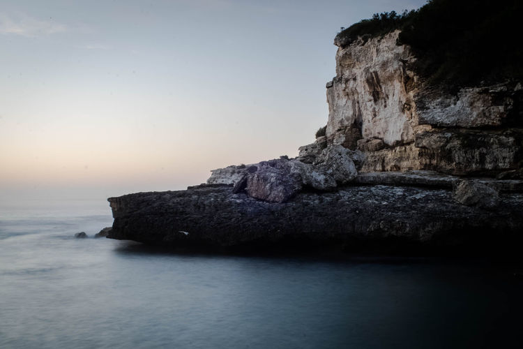 Sea Rock - Object Sunset Nature Beauty In Nature Landscape Tranquility Outdoors Water Scenics No People Day Sky Astrology Sign Manuelkiese Vacations Mallorcaphotographer Mallorcaisland Mallorca (Spain) Travel Destinations Tourism Print