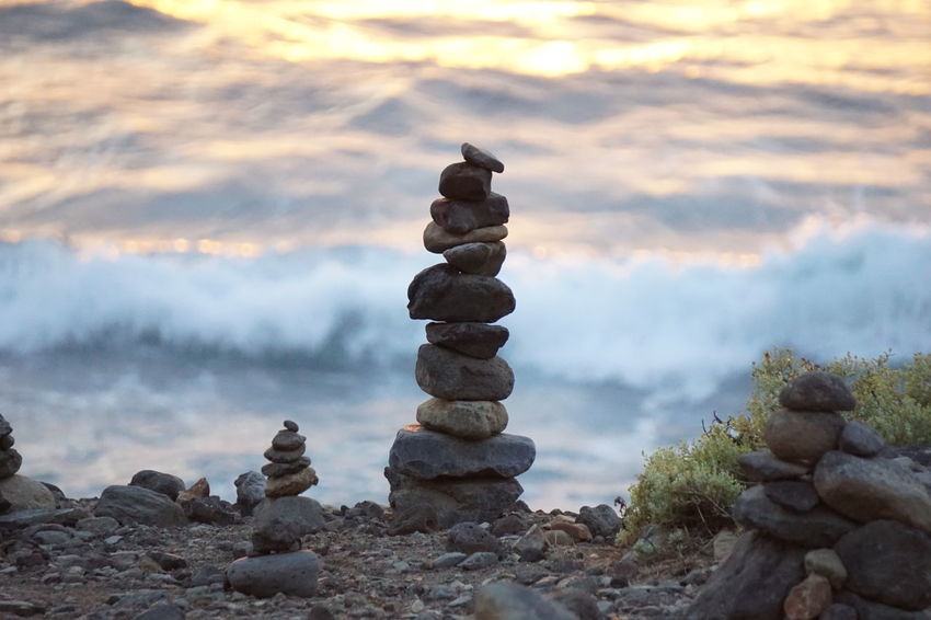 Rock Formation Tenerife España Balance Beach Beauty In Nature Close-up Cloud - Sky Day Focus On Foreground Nature No People Outdoors Pebble Rock - Object Scenics Sea Sky Stack Stone - Object Tenerife Tenerife Island Teneriffa Tranquil Scene Tranquility Water
