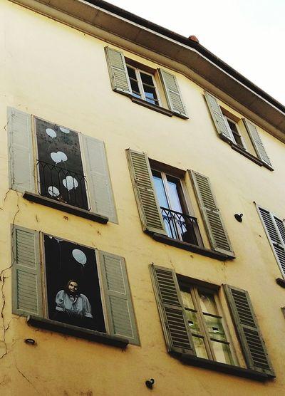 Streetphotography Drawing Lugano TICINO ♡ Switzerland House Architecture Samsung Galaxy A5 Windows Pastel Power Urban Photography Urbanphotography