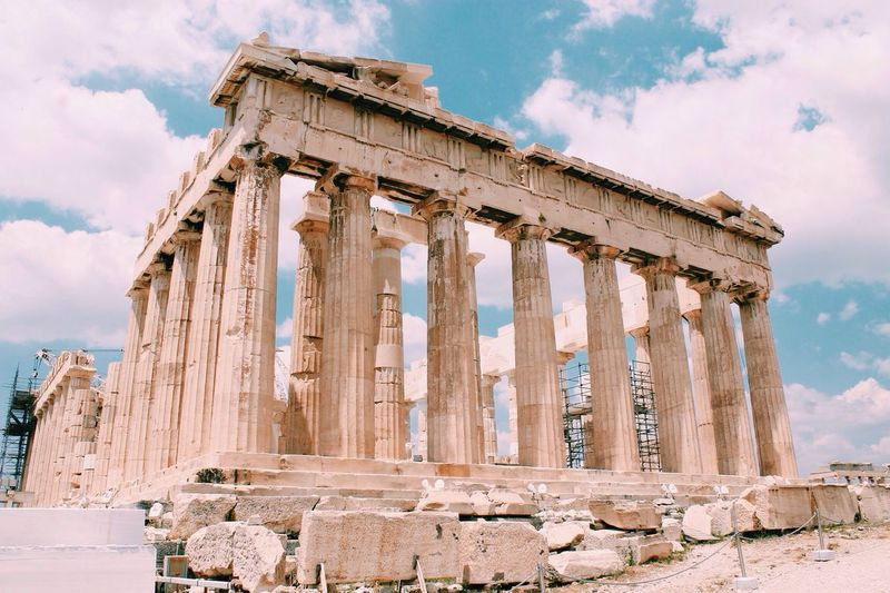 Athens, Greece. Athens, Greece Greece Ruins Architecture Greek Travel Europe Historical Building Historic Clouds And Sky