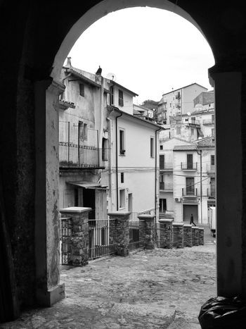 Glimpse of the historic center of Verbicaro Black & White Italia Old Town South Italy Arch Architecture Black And White Black And White Photography Building Exterior Buildings Builsing Exterior Built Structure Calabria City Glimpse Residential Building Travel Destination Urban Landscape Verbicaro
