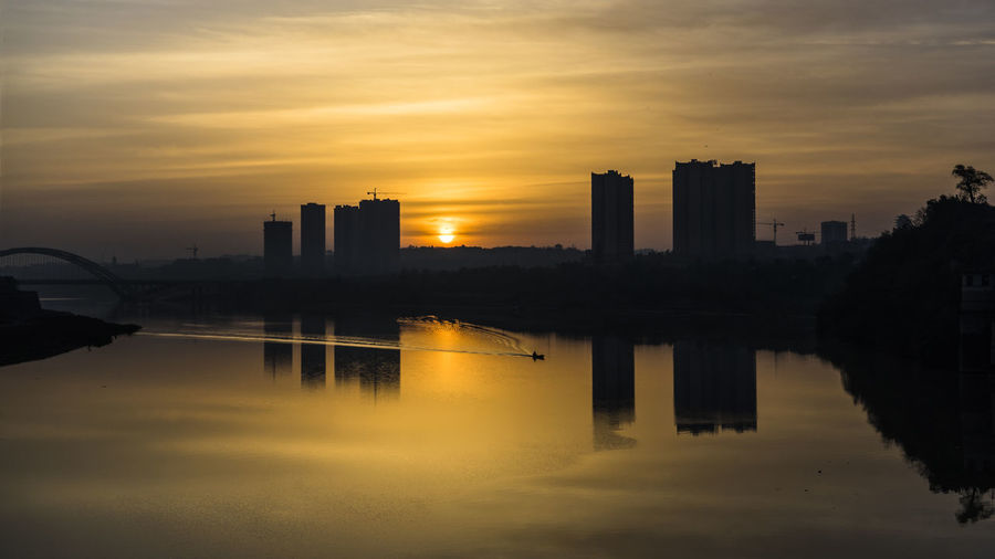 Building Exterior China City No People Outdoors Sky Skyscraper Sunrise Water First Eyeem Photo