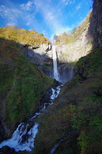 華厳の滝 Water Nature Sky Blue Beauty In Nature 華厳の滝 Autumn 自然 風景 旅行 Traveling 日光 No People Beauty In Nature Nature