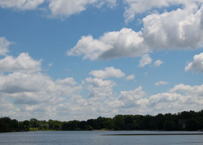Taken near a small lake in summer time. Clean Clear Cloud - Sky Clouds Cloudscape Cloudy Moody Sky Outdoors Relaxing Moments Sky Summer