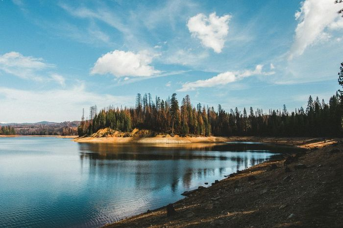 Stumpy Meadows lake, CA. This place got burned pretty good during the King fire. Stumpy Meadows Lake Taking Photos California Landscape Nature Connected With Nature