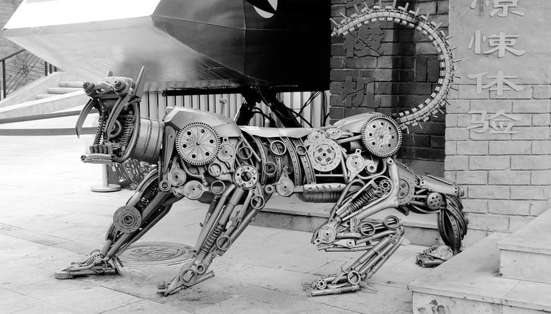 Blackwhite robotic mechanics model animal Outdoors Modern Built Structure Pattern, Texture, Shape And Form Pattern Pieces Circles And Holes Bolts Bolts And Screws Bolts And Nuts Bolt Nut