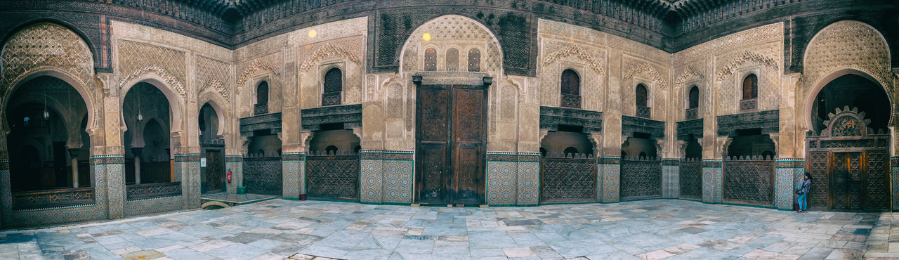 Ancient Ancient Architecture Ancient City Arch Architecture Details Textures And Shapes Fes Fez Fez Morocco Historical Building History Maroc Morocco Panorama Schoolyard Travel Destinations Workmanship Zelij