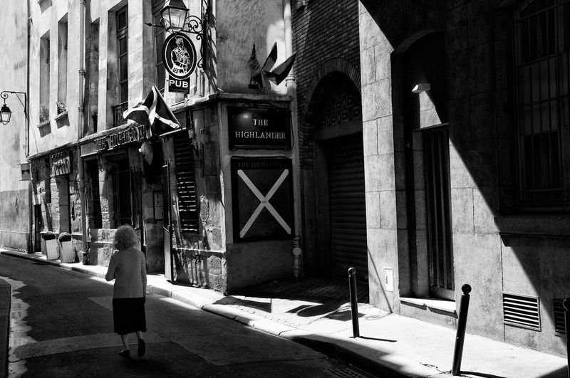 Black And White Blackandwhite City Oldwoman Paris Pub Shadow Street Photography The Highlander The Week On EyeEm