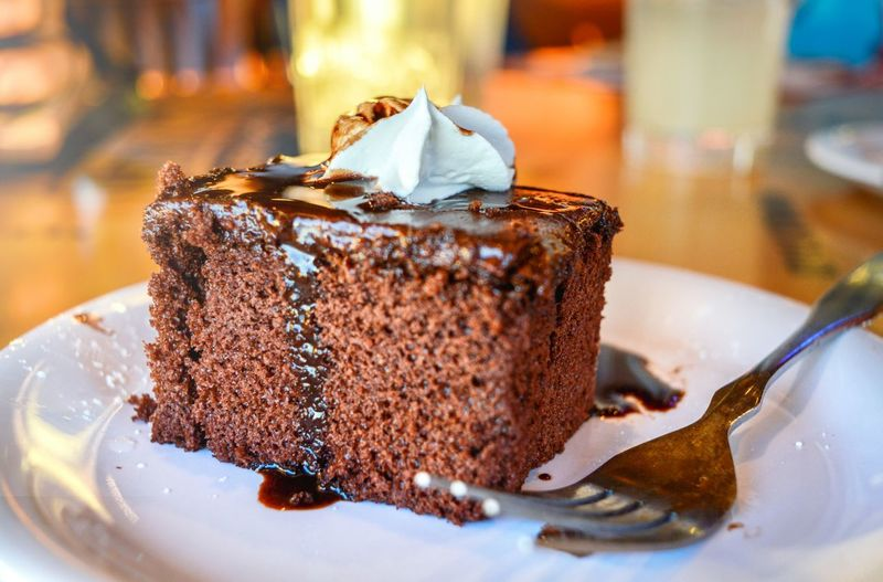Enjoying a good dessert Chocolate Sweet Food Dessert Cake Food And Drink Food Unhealthy Eating Brownie Indulgence Close-up Indoors  No People Day Ready-to-eat Fork Plate Dish Restaurant EyeEm Best Shots EyeEm Selects My Best Travel Photo My Best Photo