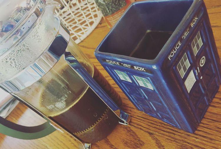 Good Morning! Coffee Hazelnut Coffee British Made Coffee Press French Press Coffee Press Wibbly Wobbly Timey Wimey Tardis Tardis Mug Doctor Who Whovian Perfect Start To The Day
